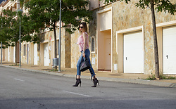 Cosmina M. //mbcos.net - Loveofqueen Denim - Lace up high waisted jeans