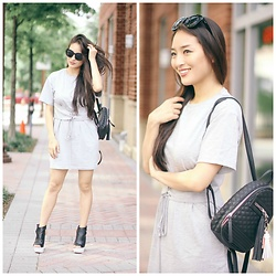 Kimberly Kong - Asos Corset Dress, Guilty Soles Black And White - Find of the Day:  The Everyday T-Shirt Dress