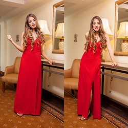 Priscilla Eslo - Nasty Gal Red Dress - Maxi red dress