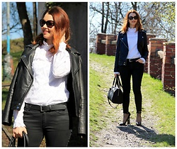 Jana Dishani - Mango Leather Jacket, Margifashion Shirt, Mango Jeans, Calvin Klein Bag, Ralph Lauren Sunglasses - Rock baby
