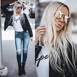 Oksana Orehhova - Fashion Nova Jeans, Cl!C, Clac Sunglasses - I'M SUPER CASUAL
