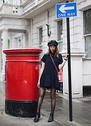 Amelyn B - Playsuit - NAVY x RED