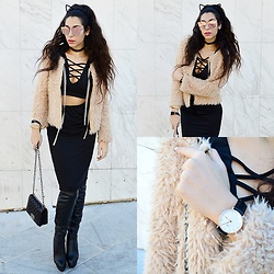 Marina Mavromati - Trendsgal Over The Knee Boots, Trendsgal Two Piece Set, Daniel Wellington Watch - Normal Is The New Boring!