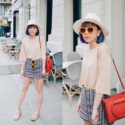 Angela Miuz Chan - Zara Skirt, Alice + Olivia Orange Sunglasses - Happy Memorial day!