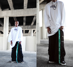 Dominic Grizzelle - Theincorporated Sinners Welcome Tee, Theincorporated Dont Stop Belt, Vans Old Skools - Sinners Welcome