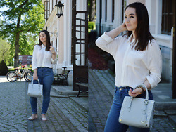 Sispolitan Lach - Promod Shirt, Guess Bag, Fossil Watch, Levis Jeans, No Name Shoes - Shiny Shoes
