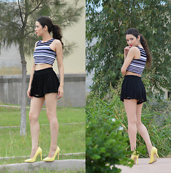 Xaydy Gambino - Glaze Yellow Pumps, More On - Yellow pumps