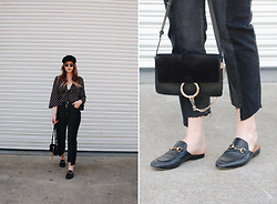 Taylor Smith - L'academie Top, Zara Jeans, Chloé Chloe Faye Bag, Gucci Princetown Loafers - Stars and Two-Toned Denim