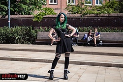 Nymphiah - Killstar Aurora Ankle Socks, Iron Fist Clothing Bat Wing Plateau Boot, Leg Avenue Suspender Panty With Fishnet, Disturbia Pentagram Harness, Killstar Vampyra Short Dress In Black, Arctic Fox Phantom Green Hairdye, Zac's Alter Ego Tattoo Choker Black - Miss Alternative
