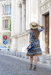 Manuella Lupascu - Vipme Dress, Shopbop Hat - Tribal Midi Dress