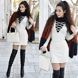 Marina Mavromati - Trendsgal Dress, Trendsgal Thigh High Boots - The Best Of Both Worlds!