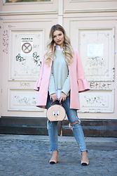 Franziska Elea - Zara Coat, H&M Sweater, Zara Bag, Zara Jeans, Zara Shoes - The piggy bag