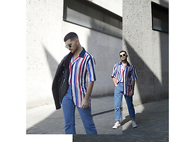 Gerard Molón - Reclaimed Vintage Striped Shirt, Asos Straight Jeans - STRIPED
