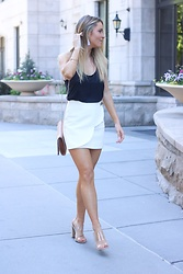 Amber Wilkerson -  - Scalloped Mini Skirt