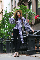 Carly Maddox - Shein Gingham Top - Going Bold in Gingham