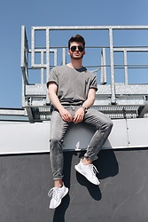 Silesianbeast - H&M T Shirt, Levi's® Jeans, Adidas Shoes, Michael Kors Watch - Summer Grey #1