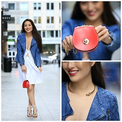 Kimberly Kong - Asos Bow Lwd, Oasap Quilted Denim Jacket - Casual Summer Dresses FTW