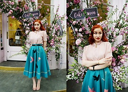 Roberta D. - Relic Vintage 1950´S Skirt, Beyond Retro Blosue - Time has told me