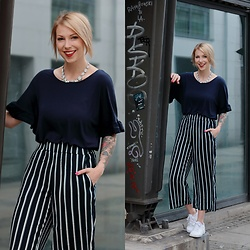 Lavie Deboite -  - Striped Culottes