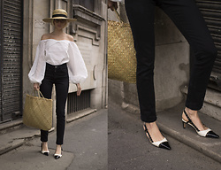 Magdalena M - Blouse, Chanel Shoes - Bell sleeves