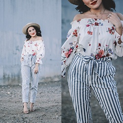 Karissa Marie - Zara, Striped Trousers - Mixing Prints