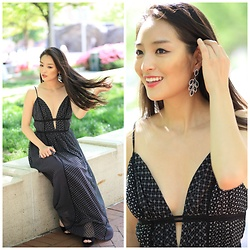 Kimberly Kong - Max Studio Maxi Dress - The Plunging Maxi Dress