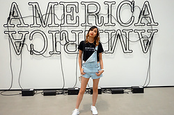 Taylor Wong - H&M Denim Overall Shorts, Saints And Savages La Babygirl Croptop - Overalls