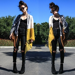 Wawa Baby - Unif Boots, Zaful Scarf, Ray Ban Sunglasses - Coincide With Nature