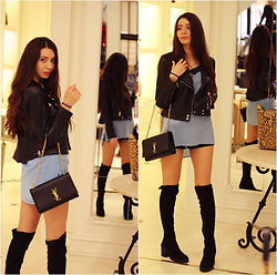 Anastassia Kalistova - Motivi Top, Motivi Jacket, Ysl Bag - Daring, dynamic, attractive..