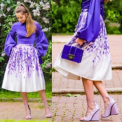 Retuksa - Chic Wish Skirt, Asos Sandals - Skirt with flowers
