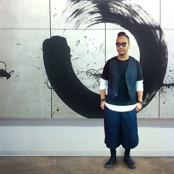 Mannix Lo - Forever 21 Layer Tee, Niko And... Wide Cropped Pants, Converse All Star Sneakers - ART is always Everywhere