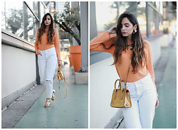 Bárbara Marques - United Colors Of Benetton Sweater, Primark Jeans, Bimba Y Lola Bag, Zara Sandals, Stradivarius Necklace - ROLLING EYES EMOJI