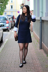 Sandy L. - Bershka Dress, Michael Kors Bag, Shein Flats - Schoolgirl Look