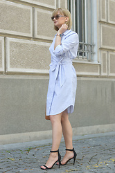Ana Vukosavljevic - H&M Dress, Pink Basis Sandals, Accessoryo Sunglasses, Kapten And Son Watch, Mango Bag - How To Wear Stripes?