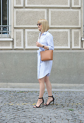 Ana Vukosavljevic - H&M Dress, Mango Bag, Pink Basis Sandals, Accessoryo Sunglasses, Kapten And Son Watch - How To Wear Stripes?
