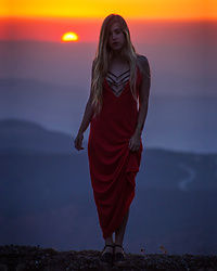 Jordan Rose - Pitusa Evil Deep V Dress - // sunset magic //