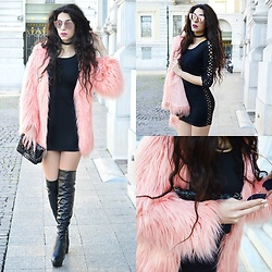 Marina Mavromati - Trendsgal Dress, Faux Fur Coat - Dressed To Kill!