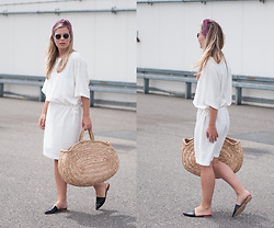 Jules V - Filippa K Dress, Topshop Leather Slip Ons - Summer Essentials