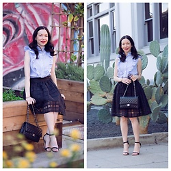 Lisa Valerie Morgan - Shein Top, Pixie Market Skirt, Chanel Bag - Striped Top Revisited