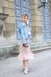 Franziska Elea - H&M Denim Jacket, Mango Dress, Mime Et Moi Heels, Furla Bag - Maxi Dress & Denim Jacket