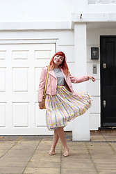 Paige Joanna Calvert - Oliver Bonas Dress, Zara Pink Jacket, Dune Yellow Bag - Summer is here!