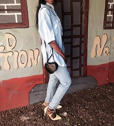Lorna Mabuku - Cotton On Denim Pants, The Fix Yellow Heels - Chilled
