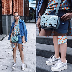 Jenny Danilkova - Romwe Shorts, Coccinelle Bag, Iceberg Dress, Ash Footwear Shoes, H&M Sunnies - Summer calling
