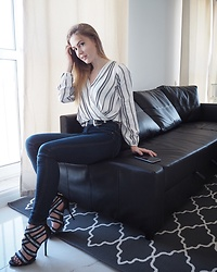 Polina Vanilla - Asos Double Buckle Belt, Dorothy Perkins Striped Shirt With Knot, River Island Denim - H O M E