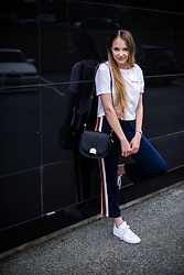 Monika C. - Ganni Trousers, H&M Top, Adidas Sneakers, Zara Bag, Mockberg Watch - Dream big