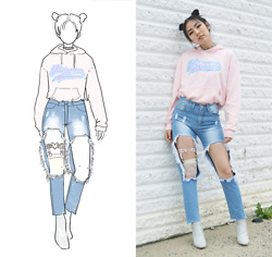 Yonish - Spinss Pink Hoodie, Dollskill Patent Sock Boots - Space Princess