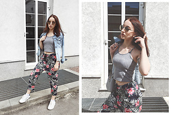 Christina Dafina - Shein Top - Grey Top & Green Pants
