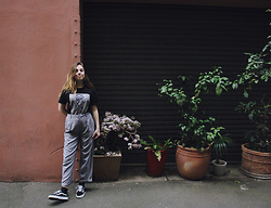 Isabella Wight - Vintage T Shirt, Thrifted Trousers - FREAKING OUT THE NEIGHBOURHOOD