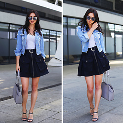 Anna Mour ♥ - Zaful Light Blue Denim Jacket - In my pocket