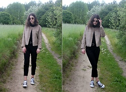Kasia M - Zara Jacket, Converse Shoes - Bike trip